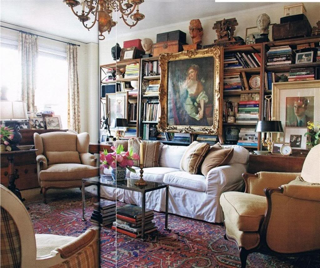 Whilst a gorgeous collection, if your home looks like this, you may need to consider decluttering before the tradesmen arrive!  Image: http://ths.gardenweb.com/