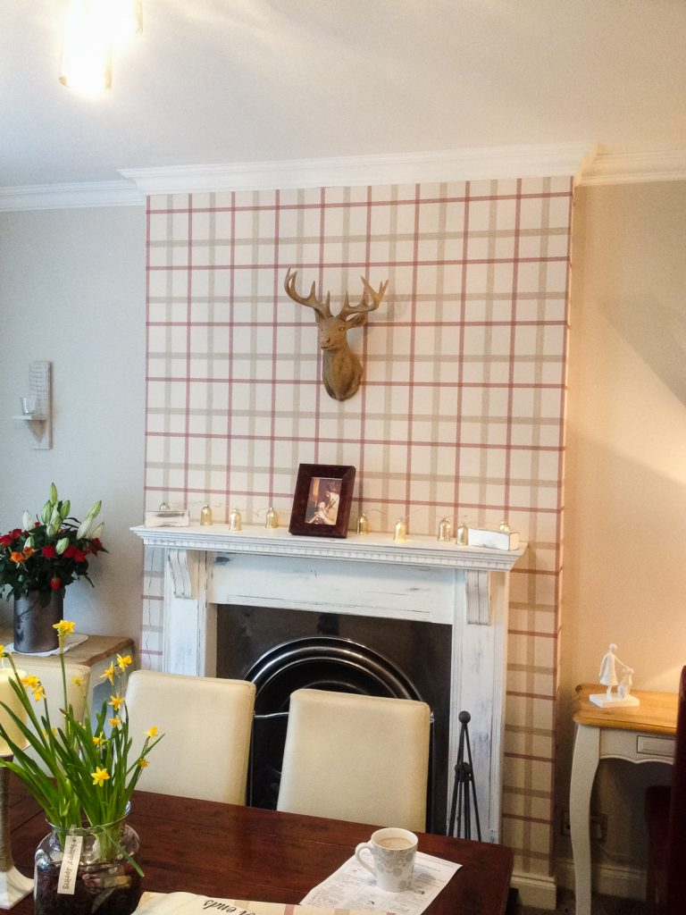 Wallpaper chimney breast